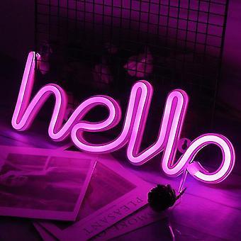 مرحبا أدى نيون ضوء توقيع رسائل النيون علامة لوحة عطلة عيد الميلاد الطرف