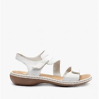 Rieker 659c7-80 Naisten Nahka sandaalit Valkoinen