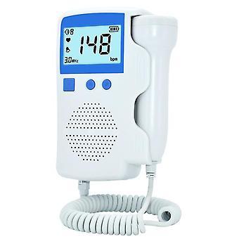 LCD Ultralyd Baby Detector Føtal Doppler Prænatal Hjerteslag Pulsmåler