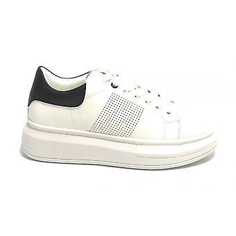 Женские кроссовки с клином Золото и золото Ecopelle Белый/черный Ds21gg02