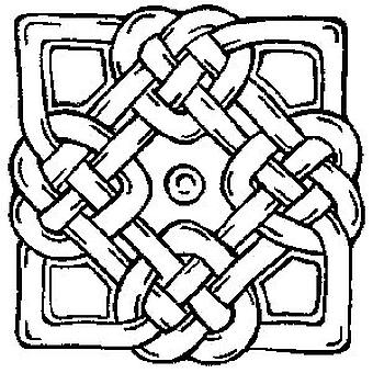 Motivo celtico 4 timbro montato in legno