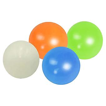 4 pezzi Sticky Balls Throw At Ceiling Stick Wall Ball Sticky Target Ball