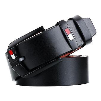 Dandali L8033 Pánské Retro Ležérní starožitné špendlíkové kožené opasek pásek, velikost: 110-125cm (černá)