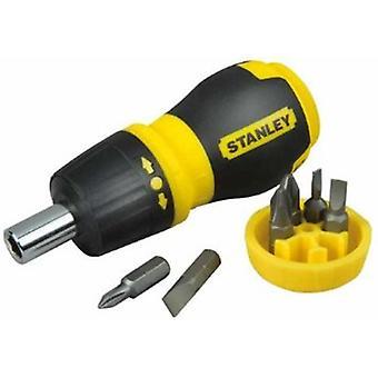 Stanley STA066358 Ratcheting Stubby Screwdriver Bit Set Phillips / Pozi 0-66-358