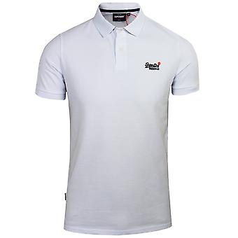 Superdry men's classic pique optic polo shirt