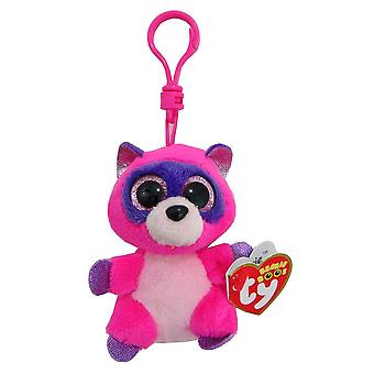 TY Beanie Boo Roxie chave Clip o Racoon