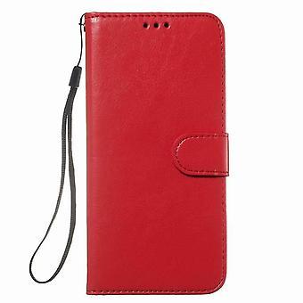 Etui na portfel ze skóry ochronnej do Samsung Galaxy S10e - czerwone