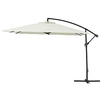 """Parasol de jardin en aluminium """"Ilios 3"""" - carré - 3 x 3 m - Brut"""