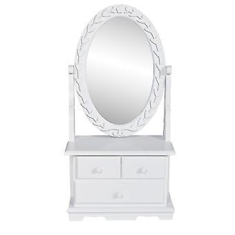 vestidor vidaXL con espejo giratorio ovalado MDF