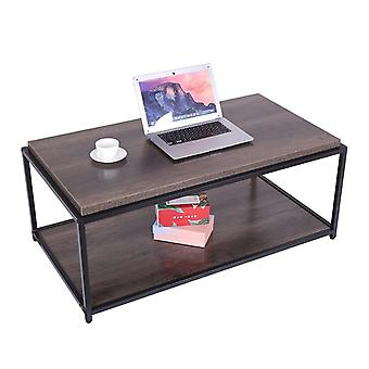 Sturdy Design Metal Legs Wooden Coffee Tables For Living Room