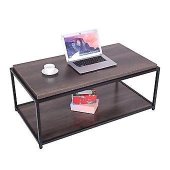 Robusto design gambe in metallo tavolini in legno per soggiorno