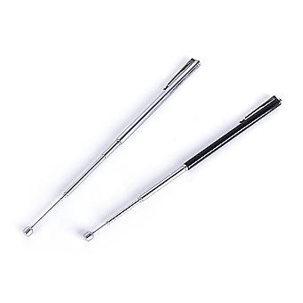 Stainless Steel- Pointer Baton, Section-6 Telescopic, Magic Ballpoint Pen