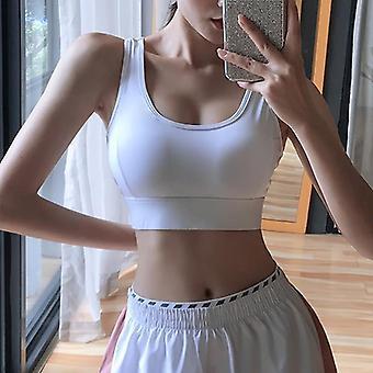 Woman Push-up Sexy Beautiful Back Yoga Padded Crop Top Workout Gym Running Sports Bra