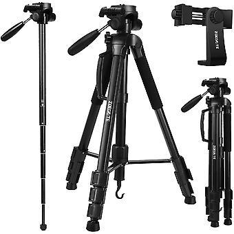 FengChun 177 cm Leichtes Stativ Kamera Stativ mit Handy und Einbeinstativ, Aluminium Stativhalterung