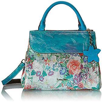 Laura Vita 4236, Shoulder Strap, Handle Bag, Women's Flowers, Blue, Medium(2)
