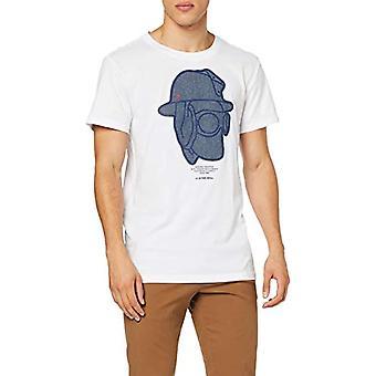 G-STAR RAW Graphic 10 Round Neck T-Shirt, White (White 110), Small Man