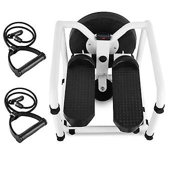 Multifunctional Mini Fitness Twist Stepper Electronic Display Home Exericse Workout Chair Seat with Resistance Bands Abdominal Training Push Up Fitness Equipment