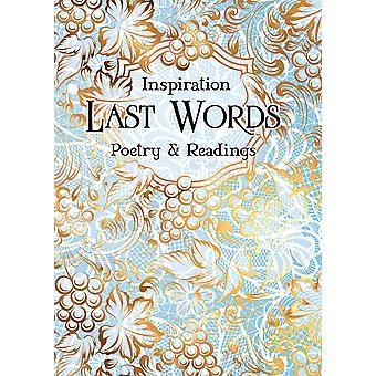 Last Words Poetry  Readings Verse to Inspire