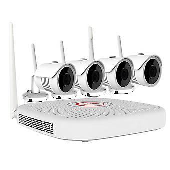 PNI البيت واي فاي755 NVR عدة المراقبة بالفيديو و 4 5MP الكاميرات اللاسلكية في الهواء الطلق، ONVIF، IP67