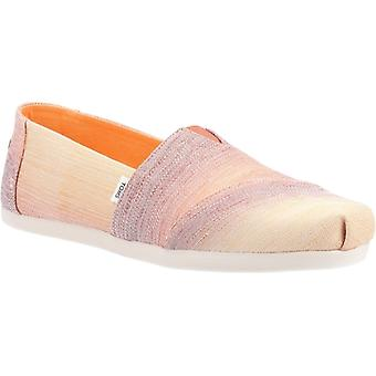 TOMS Alpargata Ombre Ladies Fabric Slip-on Shoes Brown