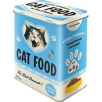 Retro Vorratsdose L Katze Essen – Love Mix – Geschenk-Idee für Katzen-Besitzer, Große