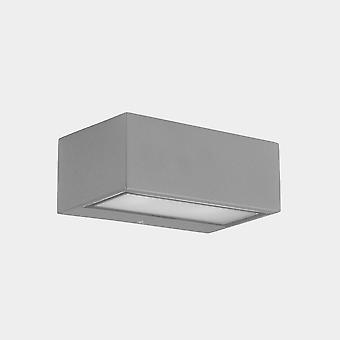 LEDS C4 Nemesis LED 90x220mm Outdoor LED Up Down Lichtgrijs, Opaal IP65 17.5W 2700K