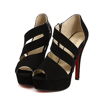 Super-high Heels And Fish-tip Sandals For Women Fashion Roman Shoes