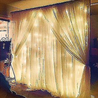3*3M warm white twinkle star led window curtain string light x4013