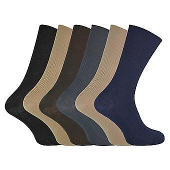 6 Pk herre ikke elastisk 80% bomuld sokker