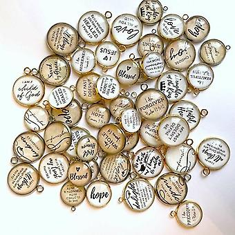 Bulk Assorted Christian And Scripture Charms For Jewelry Making – 16 &