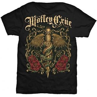 Motley Crue Exquisite Dagger Mens Black T Shirt: Large