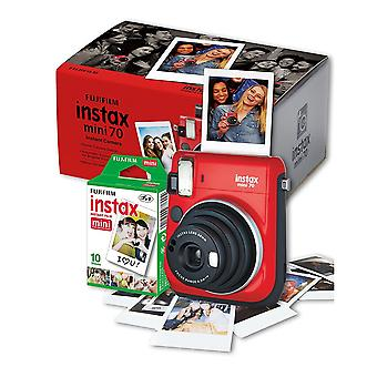 Fujifilm Instax Mini 70 Instant Kamera - rot inc 10 Aufnahmen