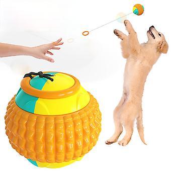 Cane lancio palla giocattolo animale domestico lancio Cue Cane allenamento palla giocattolo giocattolo dispositivo di allenamento all'aperto giocattolo giocattolo bastone da lancio con palla