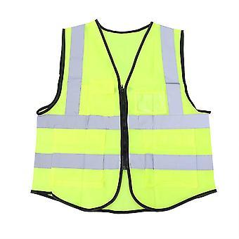 Haute visibilité Veste de sécurité industrielle Réfléchissant Hi Vis Vest avec bandes réfléchissantes Vert