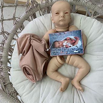 19Inch herboren poppenset ana soft touch pasgeboren baby onafgewerkte poppendelen met coa