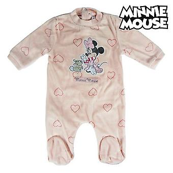 Baby's Long-sleeved Romper Suit Minnie Mouse 74660 Pink