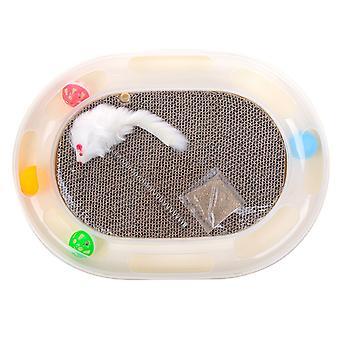 Monitoiminen kissan raapija aaltopahvin kynsien teroitin kissan tarvikkeisiin