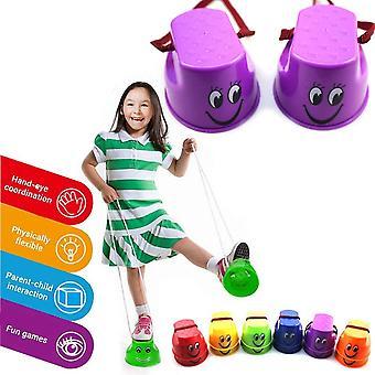 Kinder Topfstelzen Laufstelzen 2 Paar Becherstelzen für Balance Training Spielzeug(zufällige Farben)