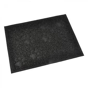 Covor dreptunghiular din PVC - 30x40 Cm - Negru - Pentru pisoi