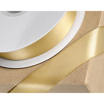 25m Light Gold 38mm Wide Satin Ribbon for Crafts