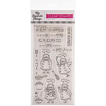 Mes choses préférées Birdie Brown Stamps 4 «X8» - Recette pour le bonheur