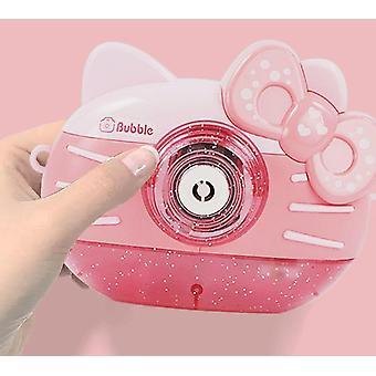 Børn bruger boble maskine kamera, sende boble vand, bærbare boble maskine legetøj gaver (drenge, piger, fødselsdage, bryllupper, udendørs og indendørs spil pink)