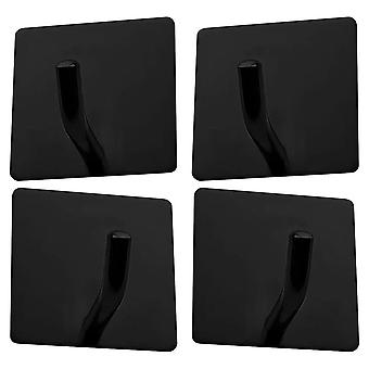4 Pack Adhesive Hooks Heavy Duty Stick On Wall Door Cabinet