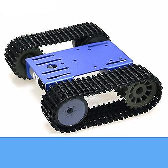 Smart Crawler Robot Tank- Chassis Kit With 12v Dc Motor Aluminum Alloy Panel