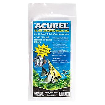 """Acurel Filter Lifeguard Media Bag with Drawstring - 12"""" Long x 4"""" Wide"""