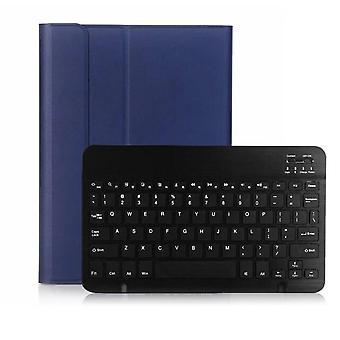 Qwert iPad 10.2 2019 Trådløst BT3.0 Tastaturtaske iPad Beskyttende kassetastatur (blå&sort)