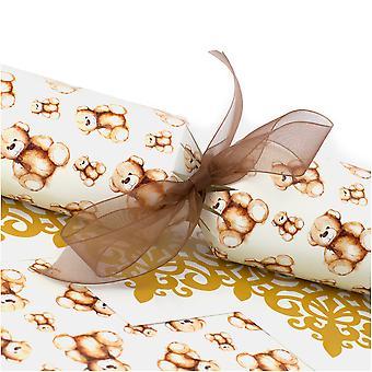 10 kuschelige Teddycracker - Make & Fill Your Own Kit ohne Bänder