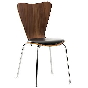 Esszimmerstuhl - Esszimmerstühle - Küchenstuhl - Esszimmerstuhl - Modern - Nussbaum - Metall - 42 cm x 47 cm x 85 cm