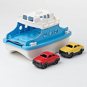 Toy trains train sets ferry boat with two toy cars - bath and water toys