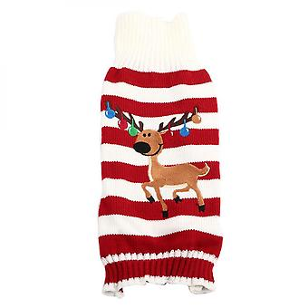 Pet Warm Sweater Cute Stripe Clothes Cat Dog Winter Coat For Christmas